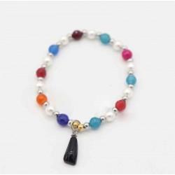 Pulsera perlitas de colores