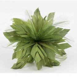 Plumas flecha verde/oliva