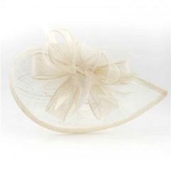 Tocado semi plato beige